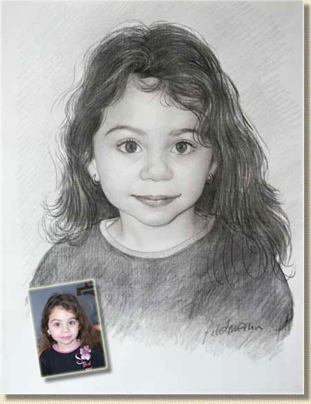 Portraits au crayon - Fille facile a dessiner ...
